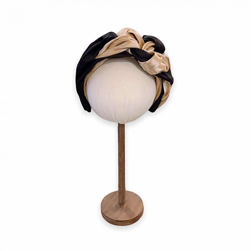 Turbante Bicolor de Le Voilà detalle - REF.TUR104 Disponible en nuestra shop online