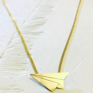 Necklace Paper Airplane