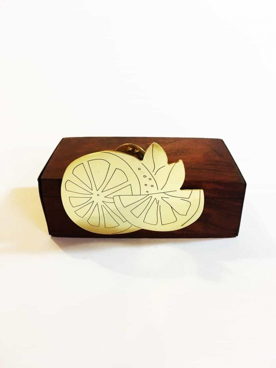 Broche limón abierto - Le Voilà