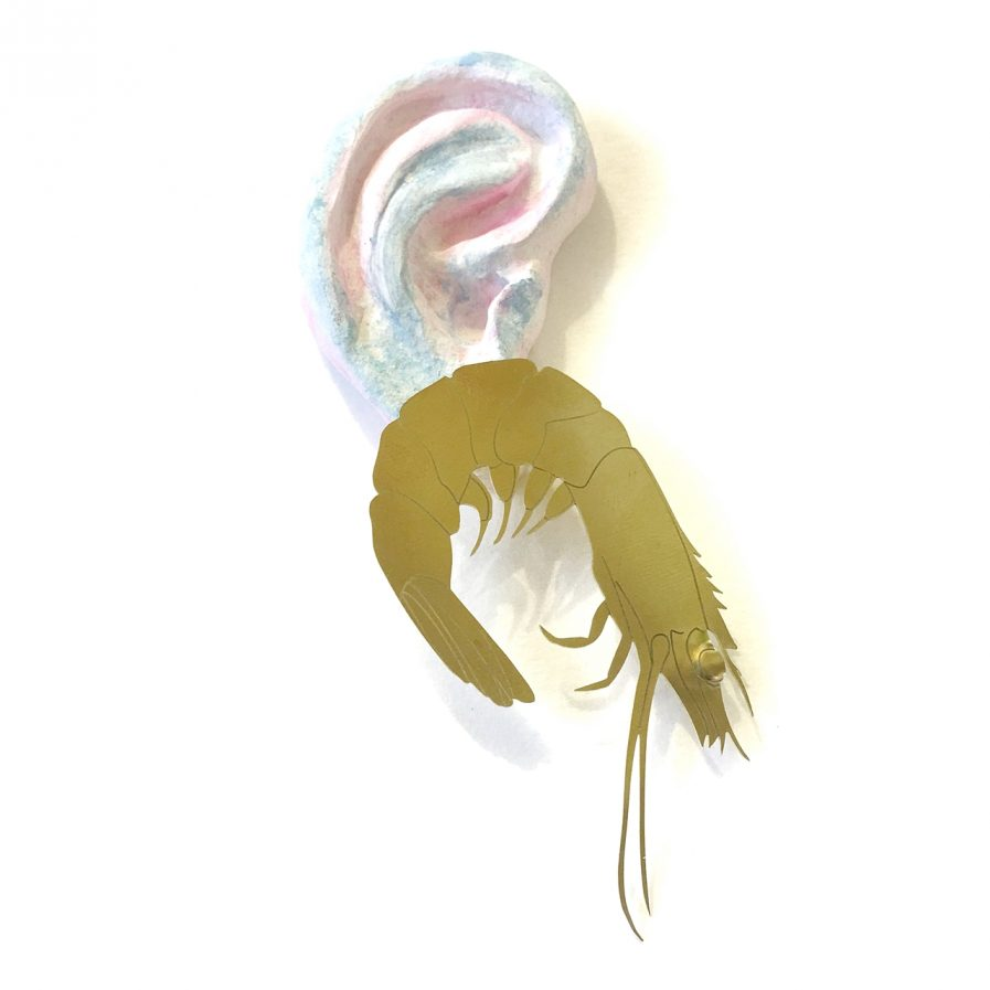 Prawn Earring - Le Voilà