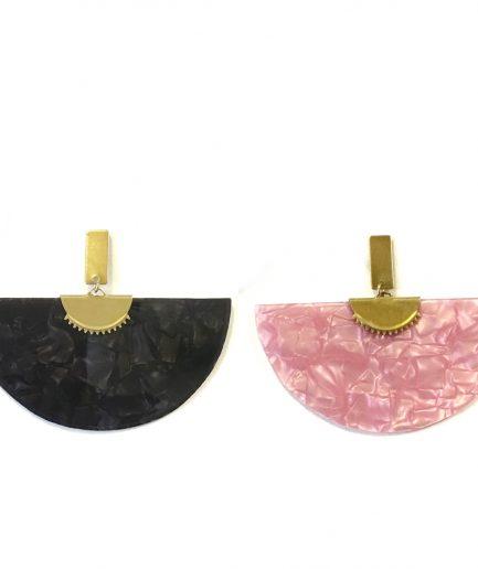 Pearly fan earrings - Le Voilà