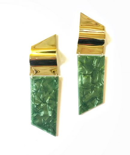 Pearly Green Earrings - Le Voilà
