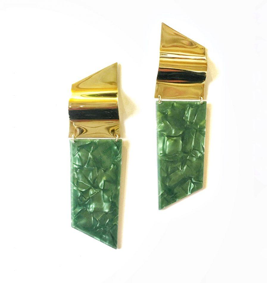 Pendientes verde nacarado - Le Voilà