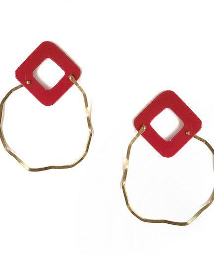 Earrings Understanding Maps IX-Le Voilà