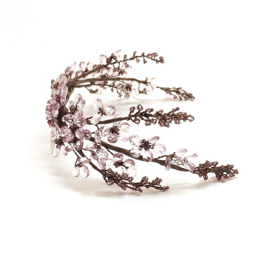 Peina trasera completa cristal rosa y transparente detalle II - Le Voilà