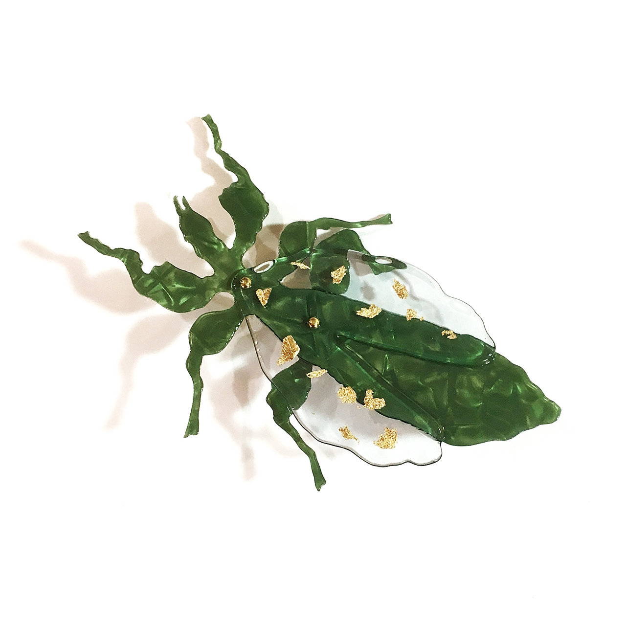 Broche Insecto Hoja - Le Voilà