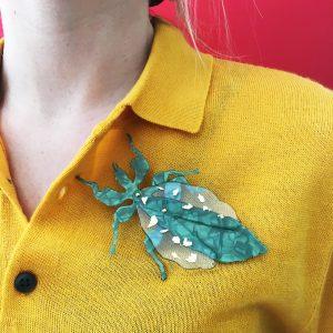 Broche Insecto Hoja look - Le Voilà