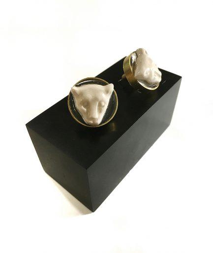 Ceramic Leopard Earrings - Le Voilà