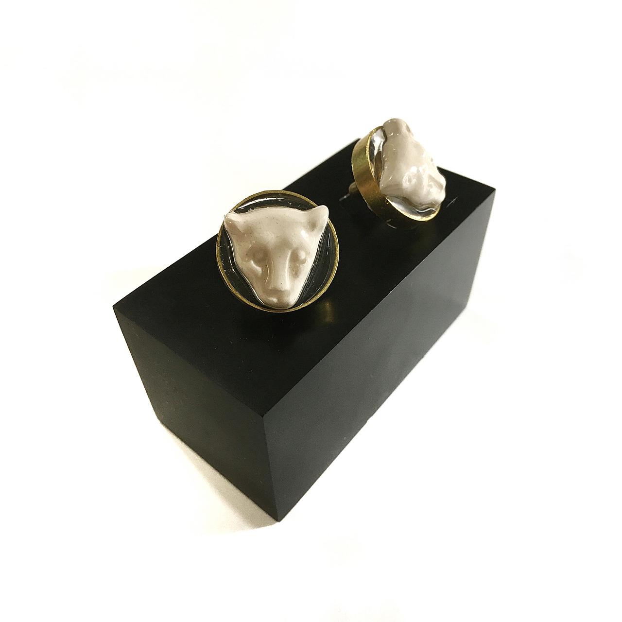Pendientes Leopardo de cerámica - Le Voilà