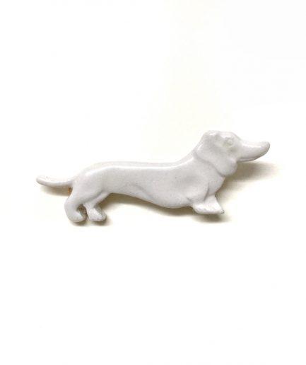 Broche Teckel de cerámica - Le Voilà