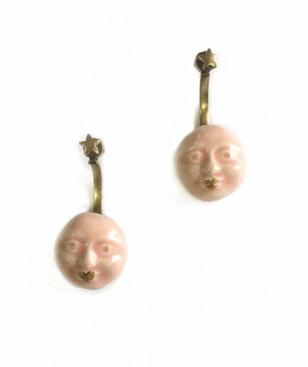 Polichinela web earrings - Le Voilà