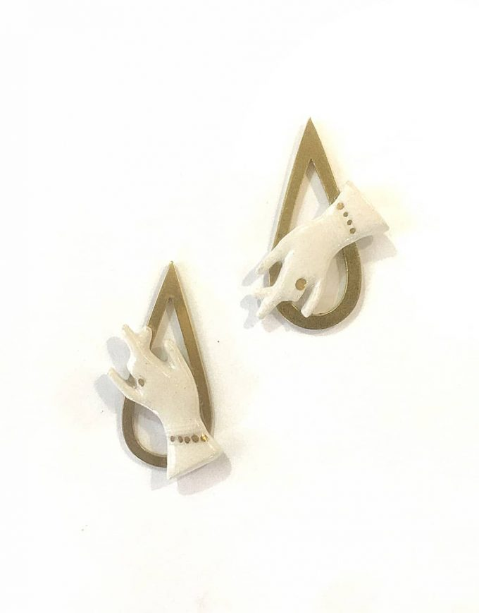 Hand of Goddess Earrings - Le Voila