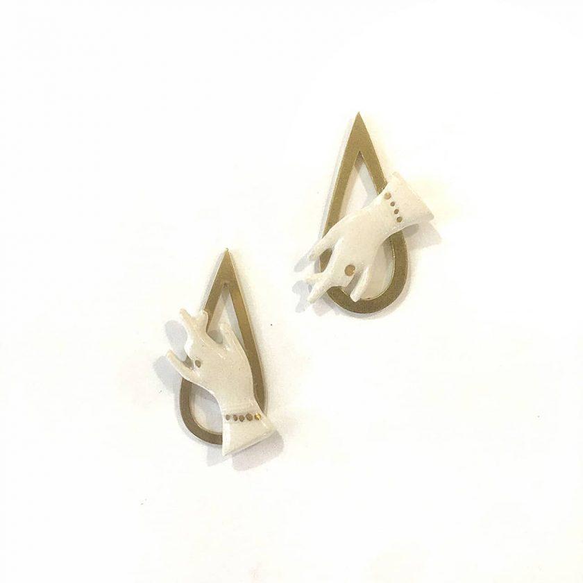 Hand of Goddess Earrings - Le Voila